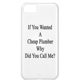 If You Wanted A Cheap Plumber Why Did You Call Me Cover For iPhone 5C