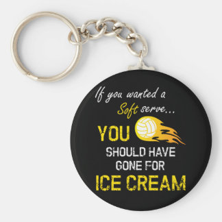 If You Wanted A Soft Serve Ice Cream - Volleyball Basic Round Button Key Ring