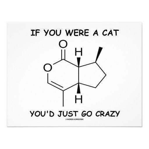 If You Were A Cat You'd Just Go Crazy Custom Invitation