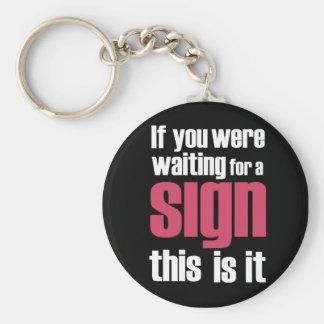 if you were...Slogan  keychains