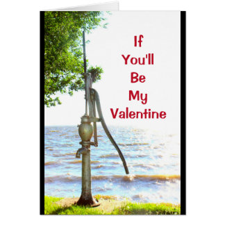If You'll Be My Valentine I'll Be So Pumped! Card