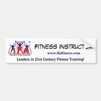 IFA Fitness Instructor Bumper Sticker