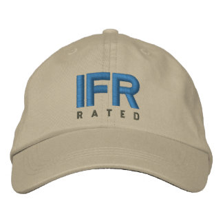 IFR Instrument Flight Rules Rated Embroidered Hat
