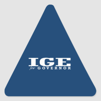 IGE FOR GOVERNOR TRIANGLE STICKERS