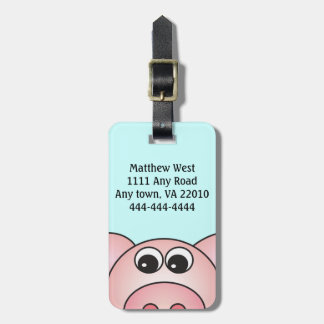 Iggy the Pig Bag Tag