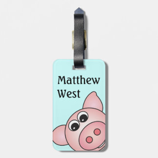 Iggy the Piggy Bag Tag