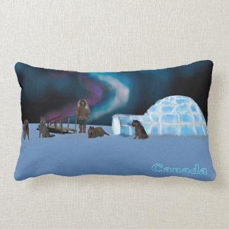 Igloo and Northern Lights - Canada Lumbar Cushion