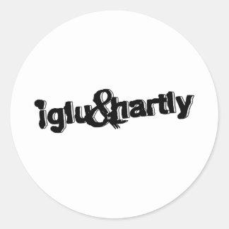 Iglu & Hartly Logo Round Sticker