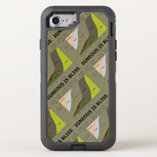 Igneous Is Bliss Geology Humor Geochemistry OtterBox Defender iPhone 8/7 Case