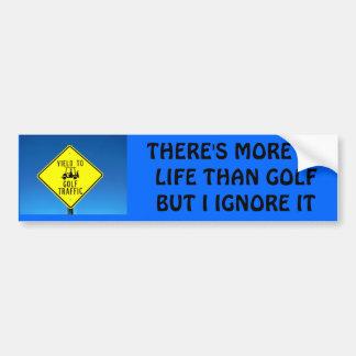 Ignore Life, Play Golf -  Golf Cart Bumper Sticker
