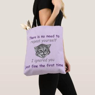 Ignoring You Tote Bag