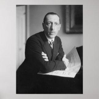 Igor Stravinsky Portrait Poster
