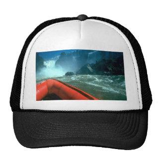 Iguacu Falls from below, Iguacu River, Brazil Mesh Hats