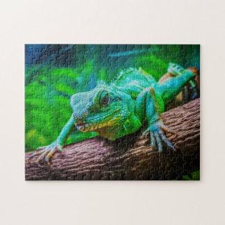 Iguana 04 Digital Art - Photo Puzzle