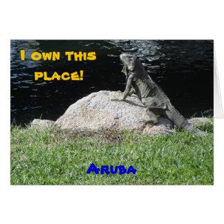 Iguana, Aruba Card