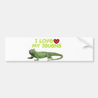 """Iguana Bumper Sticker"""" I love my Iguana"""" Bumper Sticker"""