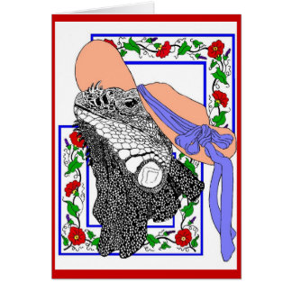 Iguana Donna Card