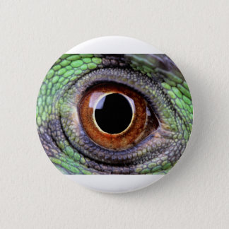 Iguana eye 6 cm round badge