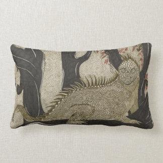 Iguana ink lumbar pillow