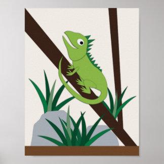 Iguana Nursery Art Poster