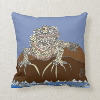 Iguana on a Rock with Hermit Crab Cushion