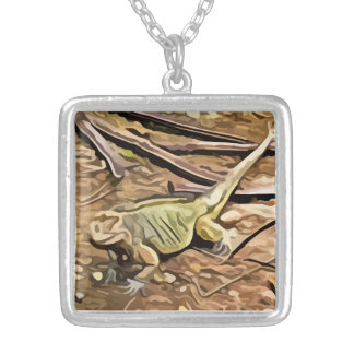 iguana painting custom jewelry