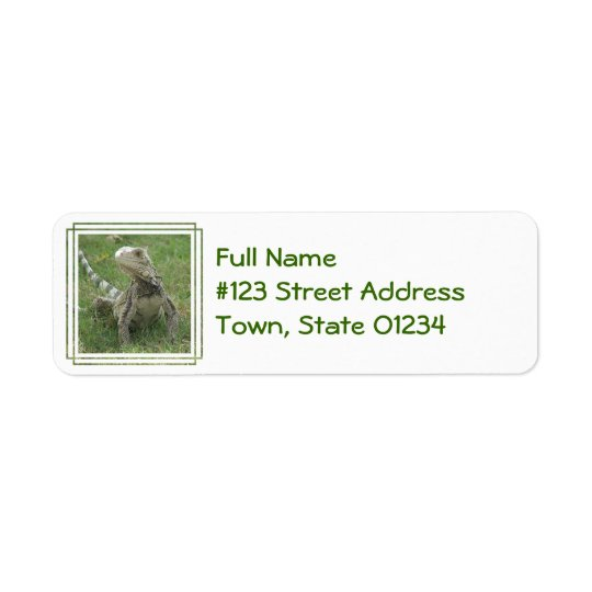 Iguana Return Address Label