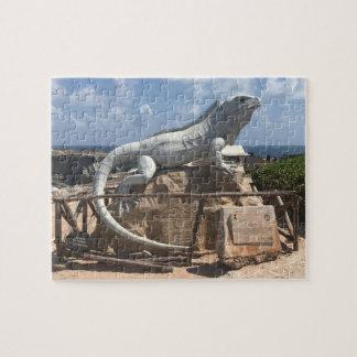 Iguana Sculpture Isla Mujeres,Mexico Jigsaw Puzzle