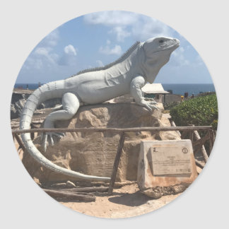 Iguana Sculpture Isla Mujeres, Mexico Stickers