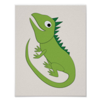 Iguana Simple Nursery Art Poster