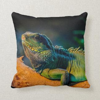 Iguana Square Throw Pillow