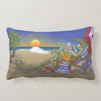 Iguana Vacation Lumbar Cushion