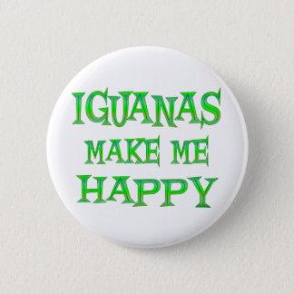 Iguanas Make Me Happy 6 Cm Round Badge