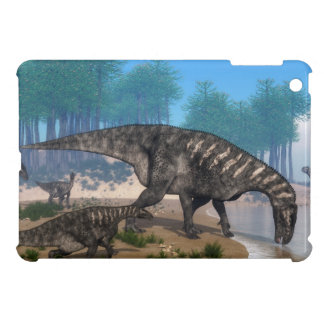 Iguanodon dinosaurs herd at the shoreline iPad mini cases
