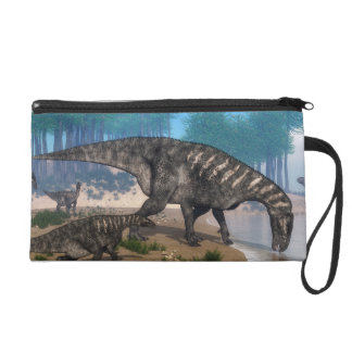 Iguanodon dinosaurs herd at the shoreline wristlet