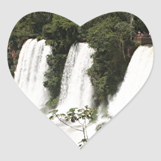 Iguazu Falls, Argentina, South America Heart Sticker