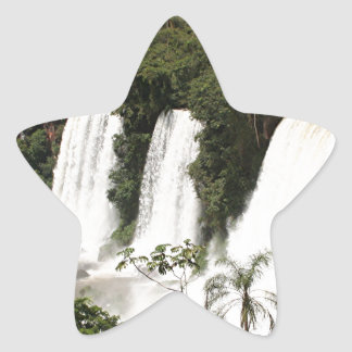Iguazu Falls, Argentina, South America Star Sticker