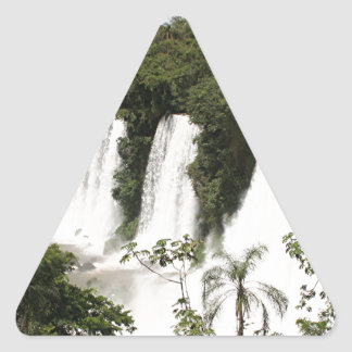Iguazu Falls, Argentina, South America Triangle Sticker