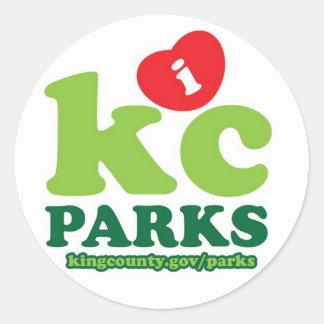 iHeartKCparks Classic Round Sticker