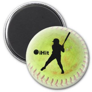iHit Fastpitch Softball Fridge Magnet