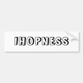 IHOPNESS BUMPER STICKER