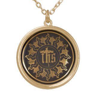 IHS monogram of the Holy Name of Jesus Pendant