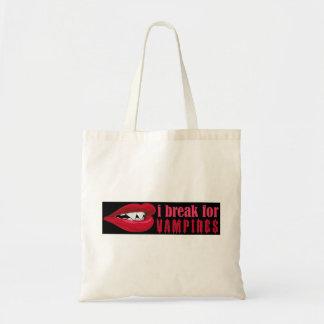 II break for Vampire Lips Crop Bumper III Budget Tote Bag