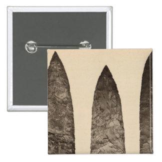 II Stone implements, California 15 Cm Square Badge