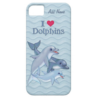 IiHeart Dolphin Family - Customize iPhone 5 Cover