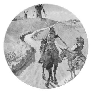 III Centenario-Don Quixote by José Jiménez Aranda Plate