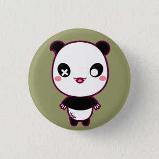 Ijimekko the Bully Panda 3 Cm Round Badge