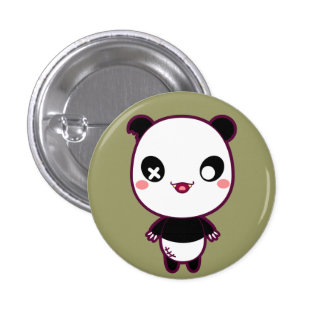 Ijimekko the Bully Panda Pinback Buttons