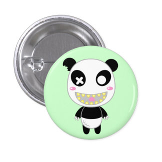 Ijimekko the Panda Pinback Button