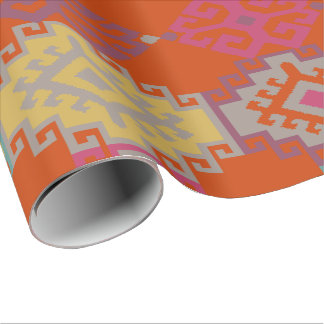 Ikat , Aztec , Kilim Wrapping Paper